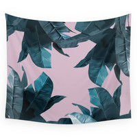 Society6 Tropical Palm Print #2 Wall Tapestry