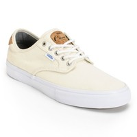 Vans Chima Pro Cork White Canvas Skate Shoes