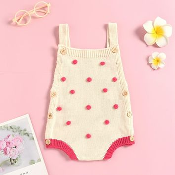 Infant Newborn Baby Boys Girls Knit Rompers Fashion Overalls Crochet Clothes New Spring Auutmn Warm One-piece Outfit Clothes D30