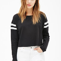 Varsity-Striped Sweatshirt