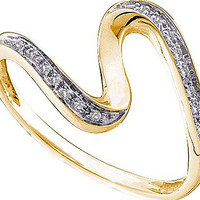 Round Diamond Ladies Fashion Ring in 10k Gold 0.05 ctw