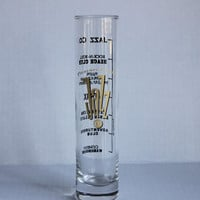 Pleasure Island Jazz Company Tall Vintage Highball Bar Cocktail Mixed Drink Glass, Disney