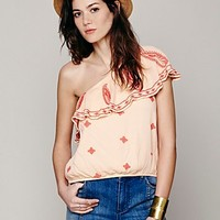 Free People Womens Easy on the Eyes One Shoulder Top