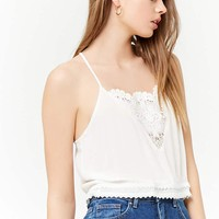 Semi-Sheer Crochet Racerback Cami