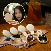 USB Charged Selfie Ring - Mirror Makeup Light Up Case