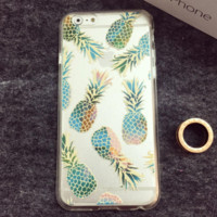 Transparent Pineapple Cover Case for iPhone 5SE 5S 6 6S Plus Gift