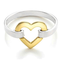 Bling Jewelry Heart Felt Love Ring