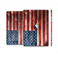 The Wooden Grungy American Flag Full Body Skin Set for the Apple iPad Mini 2
