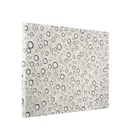 Raindrops Wrapped Canvas
