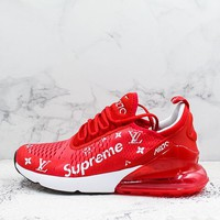 Supreme x LV x Nike Air Max 270 AH8050 012 Red Men Women Sport Shoes Sneakers - Best Online Sale