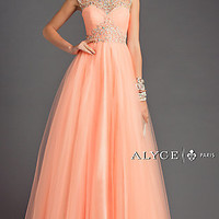 Long Open Back Ball Gown by Alyce