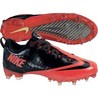 Nike Men's Zoom Vapor Carbon Fly 2 TD Football Cleat - Black/Red   DICK'S Sporting Goods
