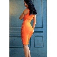 Braid On Me Midi Bandage Dress(Ready to ship)