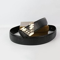 Perfect Versace Woman Men Fashion Smooth Buckle Belt Leather Belt