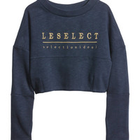 H&M - Sweatshirt - Dark blue - Ladies