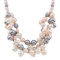 Korean Version Of The Retro Palace Beauty Colourful Imitation Pearl Necklace N2584