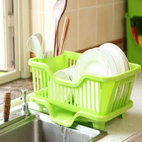 1PC 4 Colors creative dish racks kitchen utensils kitchen dishes draining rack storage racks large artifact home J0760