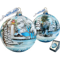 G Debrekht Limited Edition Winter Lighthouse XLG Ornament