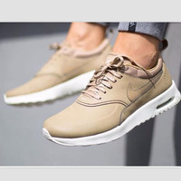 NIKE Women Men Running Sport Casual Shoes Sneakers Golden