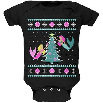 Mermaid Tree Ugly Christmas Sweater Soft Baby One Piece