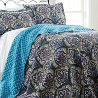 3-Piece Reversible Quilt Set (Queen)