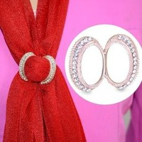 BS048 New product!Scarf Clip Straight Brooches For Women,high quality crystal decoration,exclusive design,shawls accessories