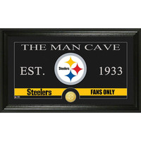 Pittsburgh Steelers The Man Cave Bronze Coin Panoramic Photo Mint