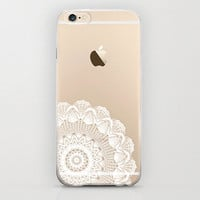 Clear iPhone 6 Case Cutest and Best iPhone 6 Cases for Apple Plastic Case Hard Cover Protector Mandala Hippie Trendy Design Hipster White