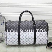 LV Women Fashion Leather Embroidery Luggage Travel Bags Tote Handbag