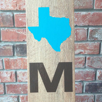 HOME Texas Ceramic Tile - Texas Wooden Sign - Wooden Look Ceramic Tile Texas Home Sign - ANY STATE Home Ceramic Wood Tile Sign