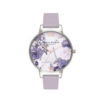 Ladies Marble Floral Grey Lilac, Rose Gold & Silver Watch | Olivia Burton London | Olivia Burton US