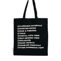 Borders & Frontiers Prohibited Items Shopper Bag at asos.com