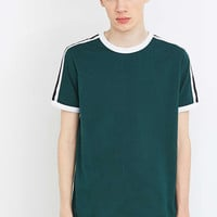Shore Leave by Urban Outfitters Green Ted Tape Ringer Tee - Urban Outfitters