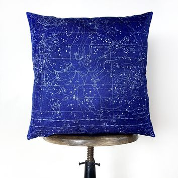 Constellations Throw Pillow Cover | Star Chart | 18x18
