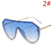 Fendi Fashion New More Letter Sunscreen Leisure Women Men Glasses Eyeglasses