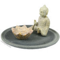 Buddha with Lotus Flower Incense Burner on sale for $9.95 at Hippie Shop