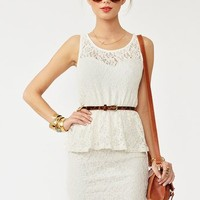 Lace Peplum Dress in  Clothes at Nasty Gal