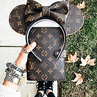 LV classic old flower hand book notebook
