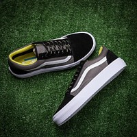 Vans Old Skool Black Gray Low Top Men Flats Shoes Canvas Sneakers Women Sport Shoes