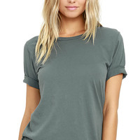 Obey Dree Washed Teal Tee