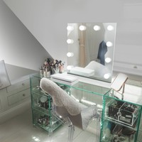 Diamond X Table Top Hollywood Vanity Mirror with Dimmable LED k89LED - Walmart.com