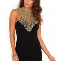 Missguided - Lorna Bodycon Dress With Lace Panel