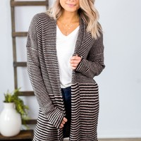 Kindred Spirits Cardigan-Brown