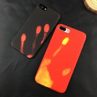 Heat Sensitive Temperature Change IPhone 5 5s se 6/6P/7/7P 8 8P X Thermal Induction Mobile Phone Shell