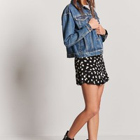 Daisy Print Mini Skirt