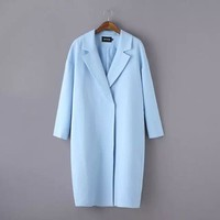 DJ-75 and the wind are pure color long suit collar windbreaker jacket