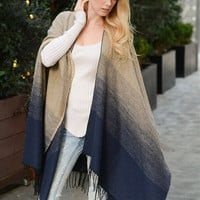 Ombre Style Poncho