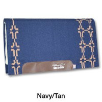 Professional's Choice SMx H.D. Air Ride Western Saddle Pad Cross Plains in Navy and Tan AXHDP 34x36