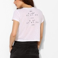 Truly Madly Deeply Coordinates Destroyed Cropped Tee - Urban Outfitters