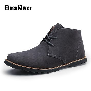 2017 Autumn Ankle Boots Men Brown Black Cow Suede Chelsea Boots Men Kanye West Mens Leather Boots Genuine Leather Dr Martins